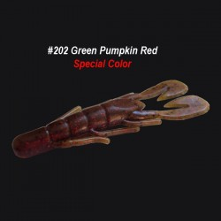 Zoom Ultravibe Speed Craw col.202 Green Pumpkin Red
